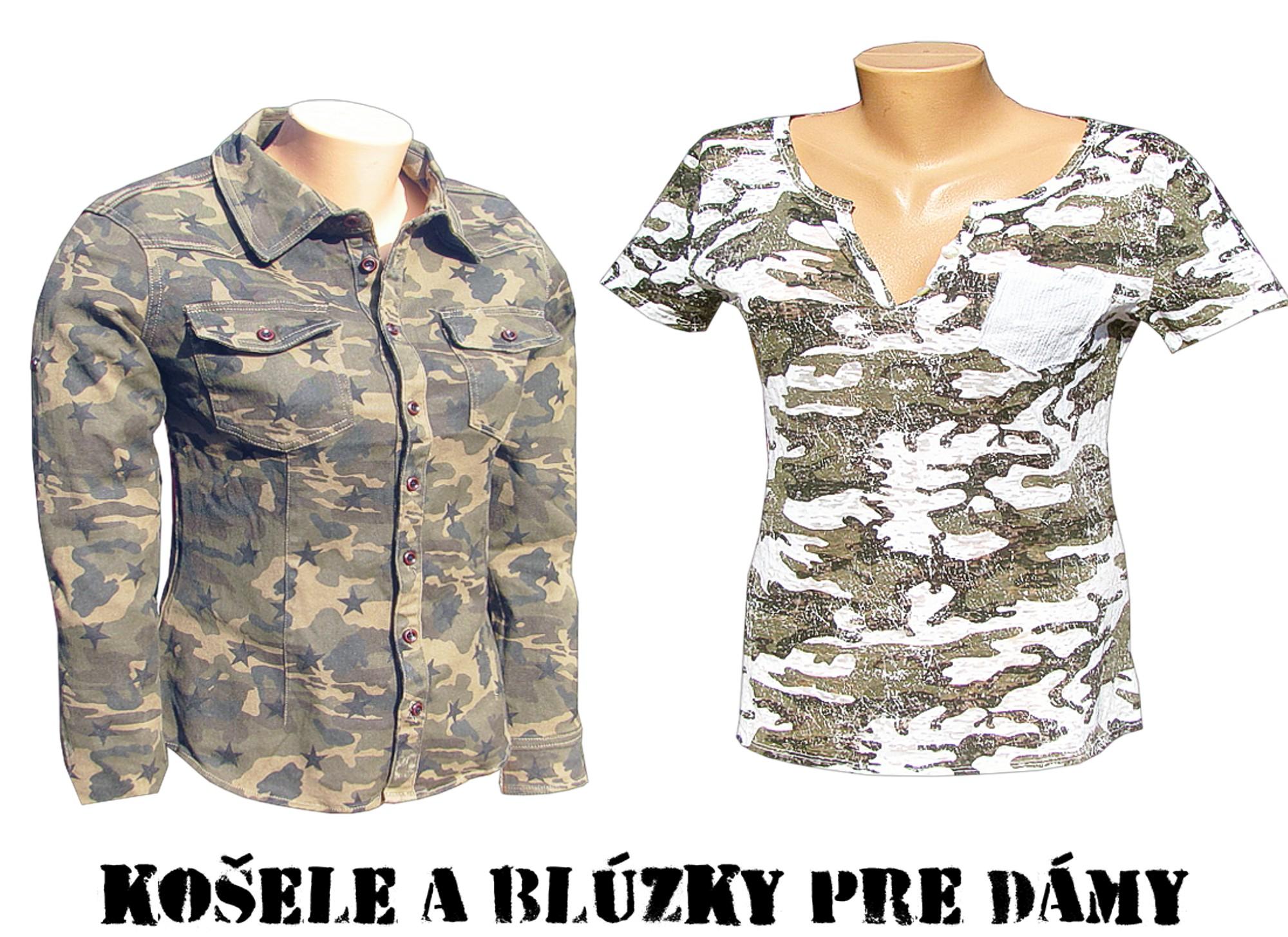 82c4d2b02 Dámske blúzky a maskáčové košele z armyshopu nitra do 24.ooh u vás