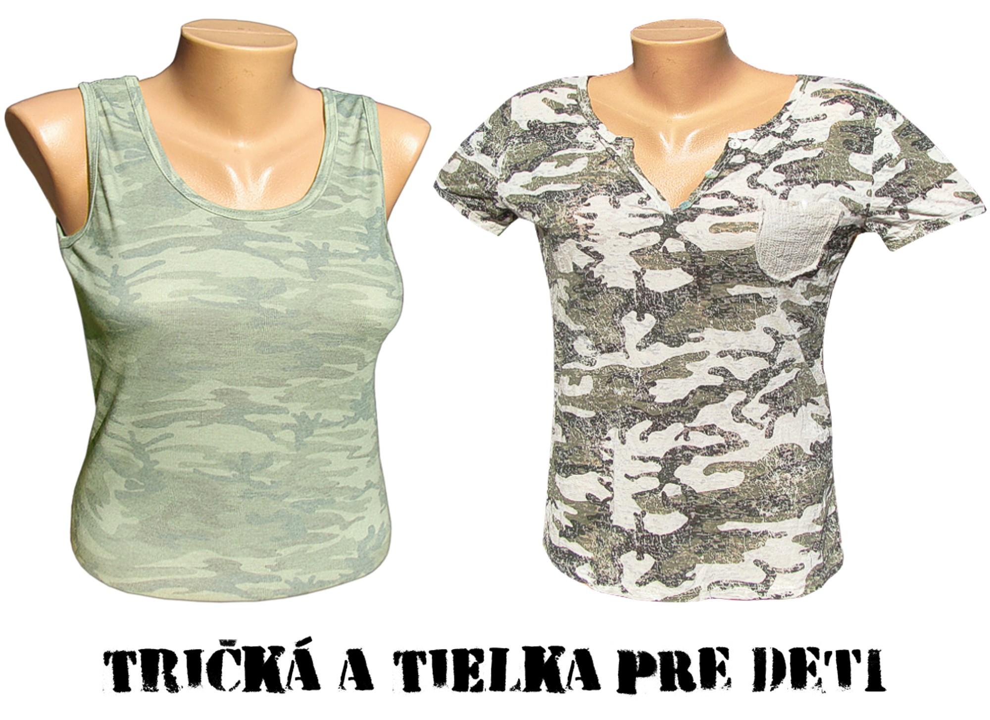5b61eb7a2baa Dámske maskáčové tričká a tielka sú najlacnejšie z armyshopu Nitra