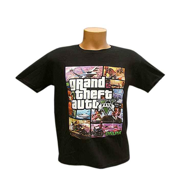 55c0ea11db6c Tričko detské Grand Theft Auto čierne