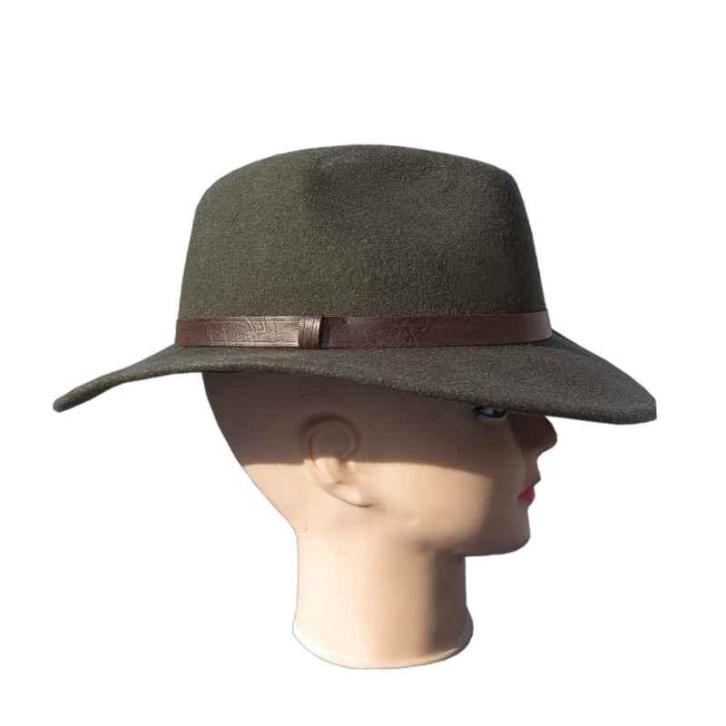 b3e85ff6c Poľovnícky klobúk zelený s hnedým lemom | army shop nitra
