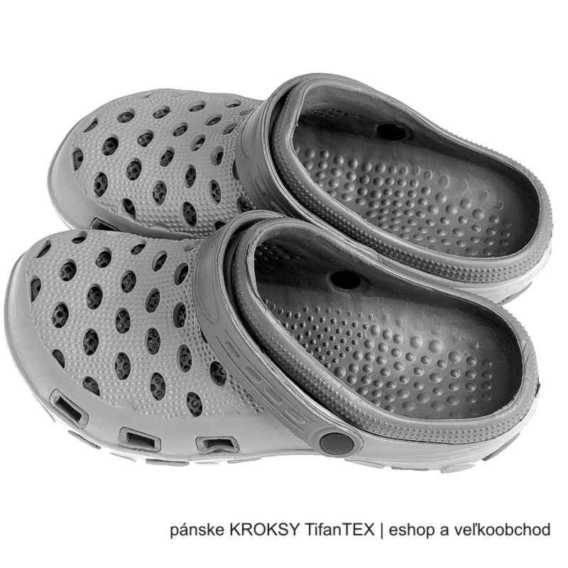 3208f141a9ff8 Pánske kroxy dvojfarebné sivé | obuv a doplnky k obuvi