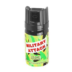 kaser CS military atack - slzný sprej 40 ml