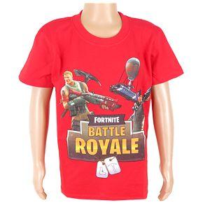 988b75bf4c1a detské tričko červené Fortnite Battle Royale empty
