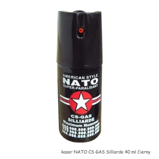 kaser NATO CS GAS Silliarde čierny 40 ml