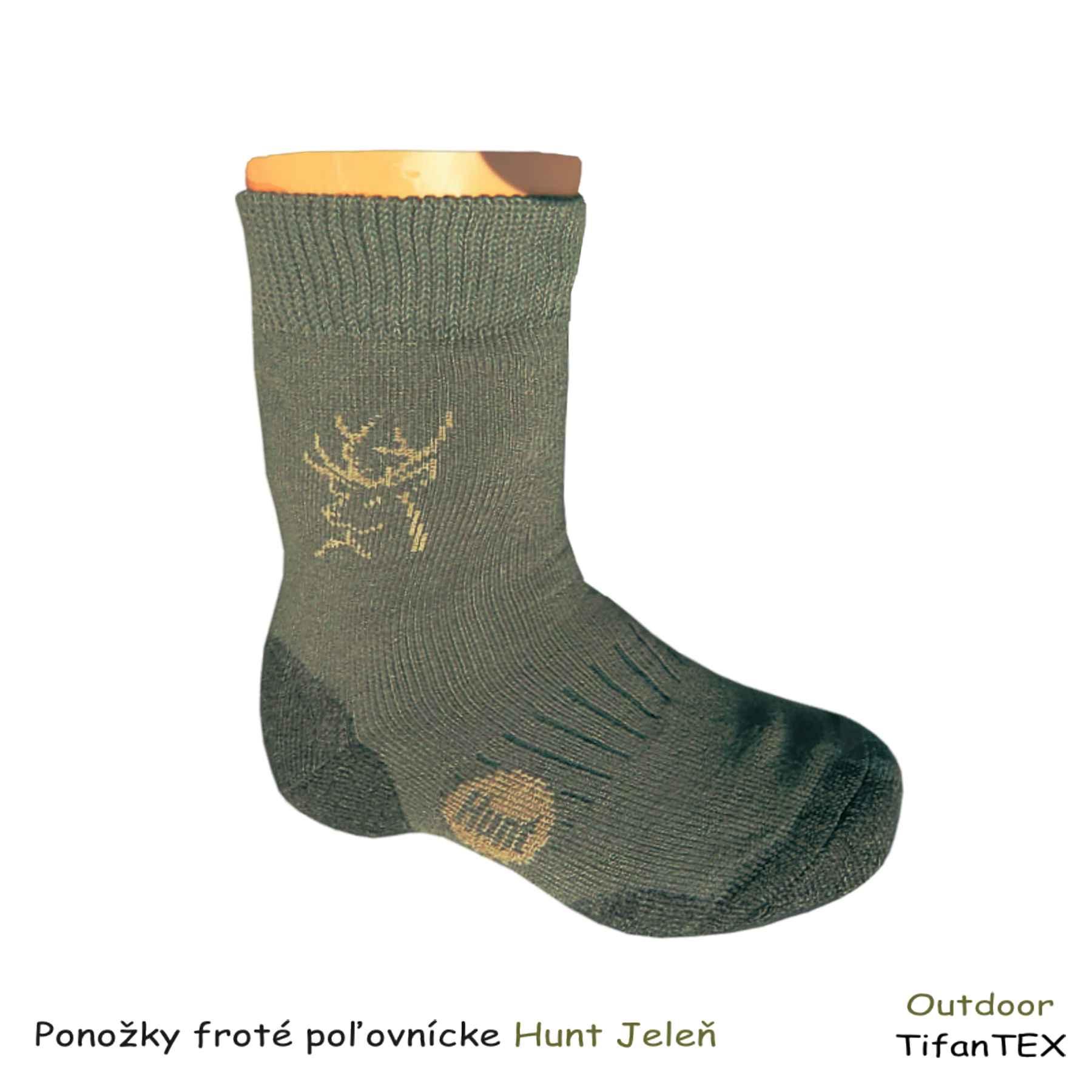 38e4216c98f9 Poľovnícke froté ponožky Hunt Jeleň